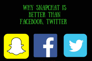 Why Snapchat Seems Better than Facebook,Twitter.